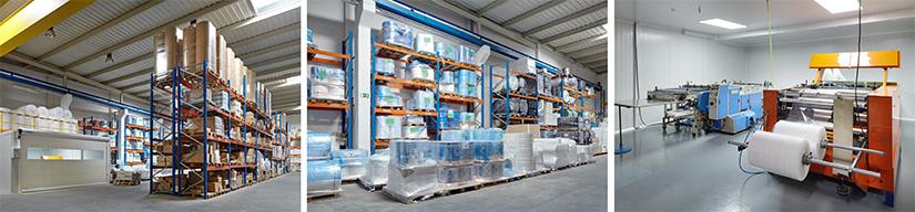 pasaiplás instalaciones de la fábrica de embalaje en plástico
