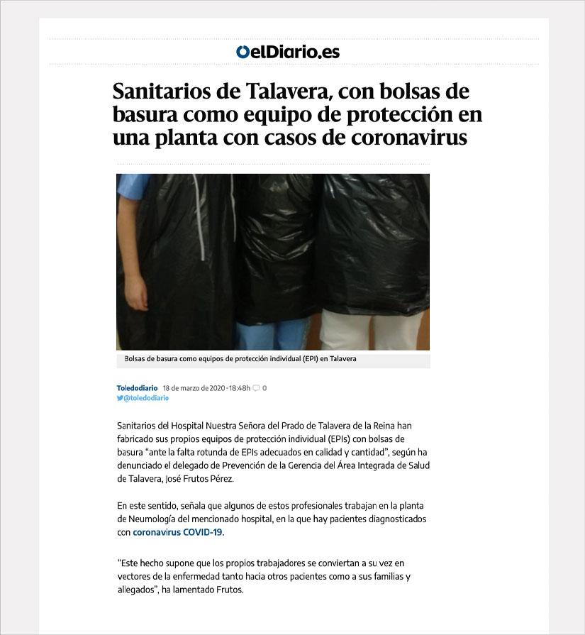 Noticias El Diario Sanitarios Talavera